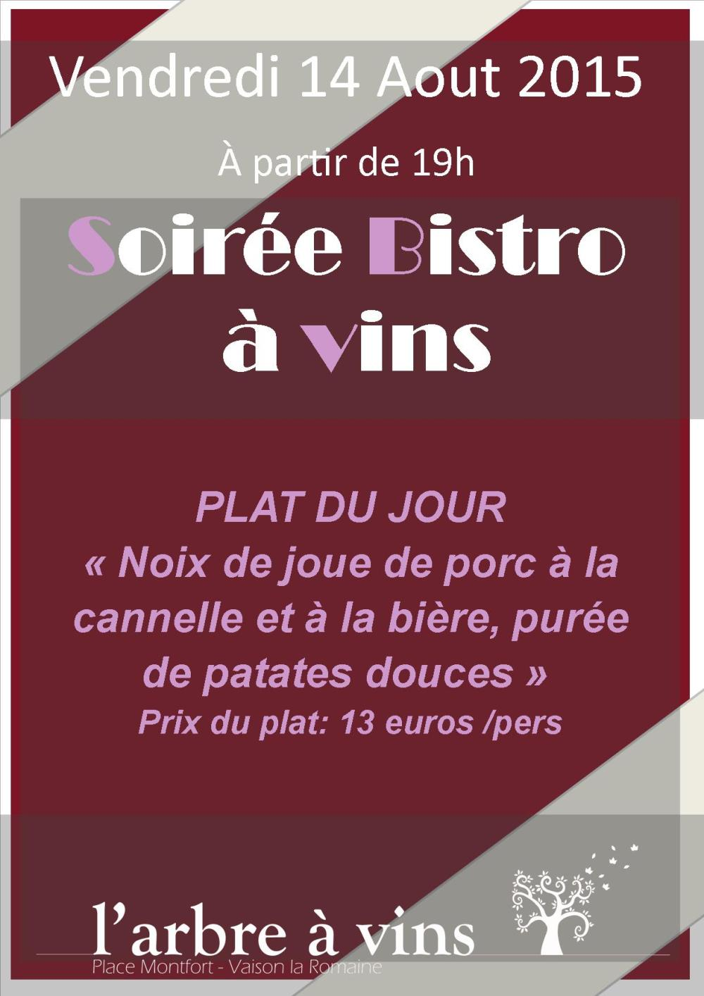 soiree bistro 14 Aout